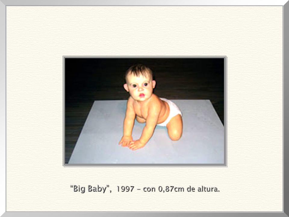 Dead Dad (silicona y tinta acrílica), 1996. Obra que generó polémica, por tratarse de su padre y la extrema perfección, en sus mínimos detalles, de la
