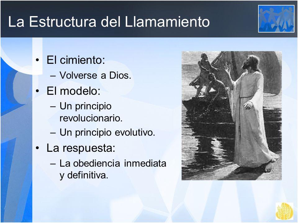 La Estructura del Llamamiento El cimiento: –Volverse a Dios. El modelo: –Un principio revolucionario. –Un principio evolutivo. La respuesta: –La obedi