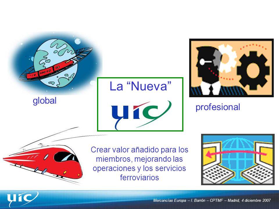 global profesional La Nueva Crear valor añadido para los miembros, mejorando las operaciones y los servicios ferroviarios