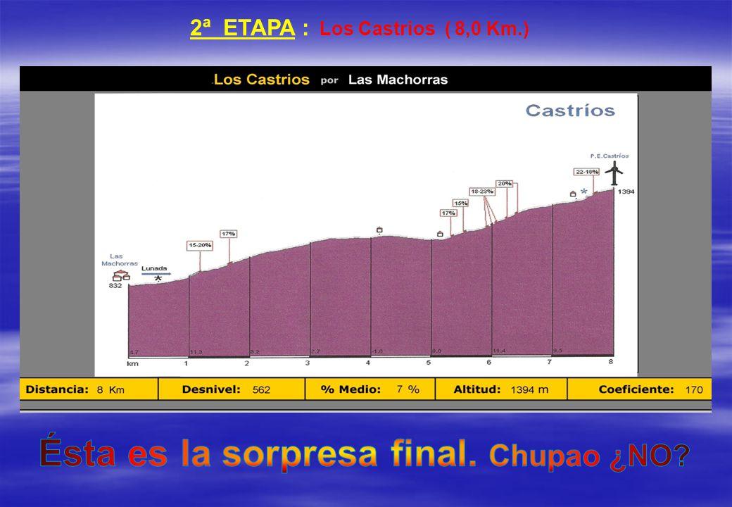 2ª ETAPA : Los Castrios ( 8,0 Km.)