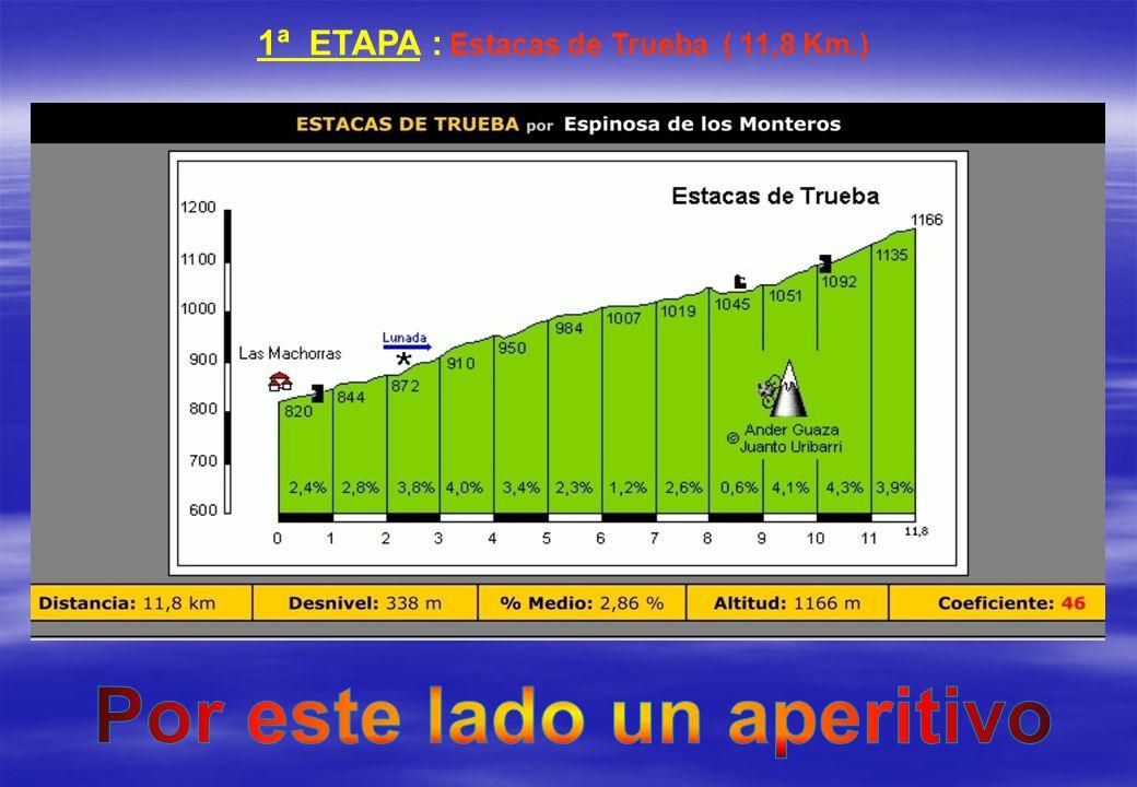 1ª ETAPA : Estacas de Trueba ( 11,8 Km.)
