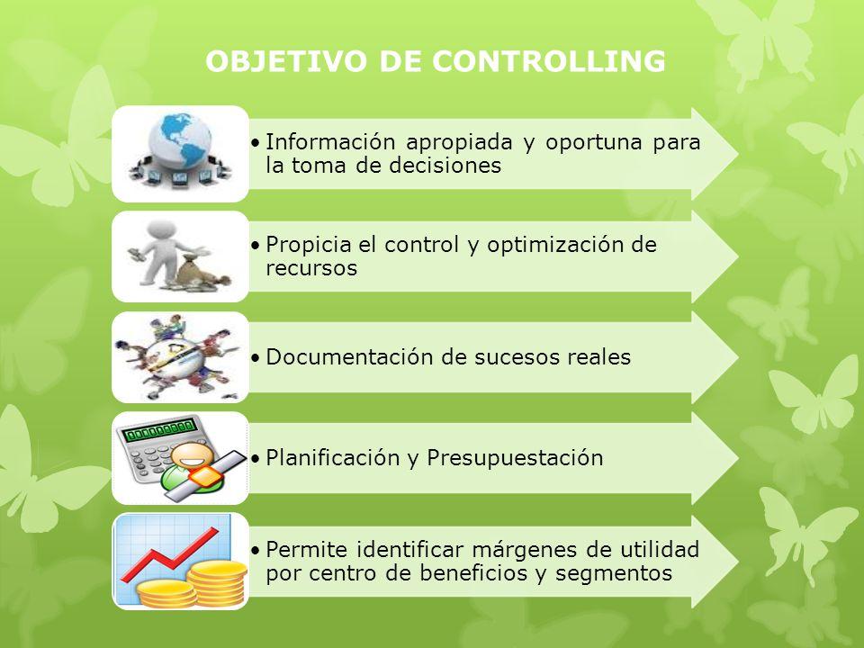 VENTAJAS DEL MODULO CONTROLLING Costes de áreas administrativas como: gerencia, marketing, compras, recursos humanos, etc.