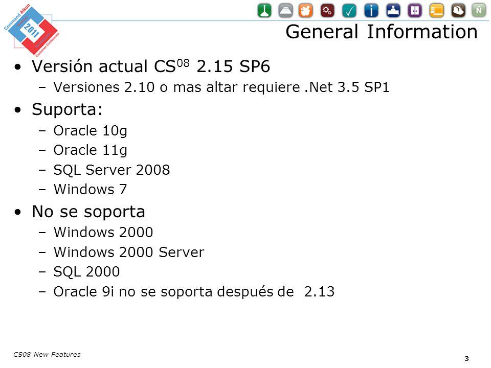 CS08 New Features Reportes pueden ser impresos a PDF Impresión PDF 24