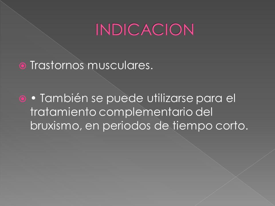 Trastornos musculares.