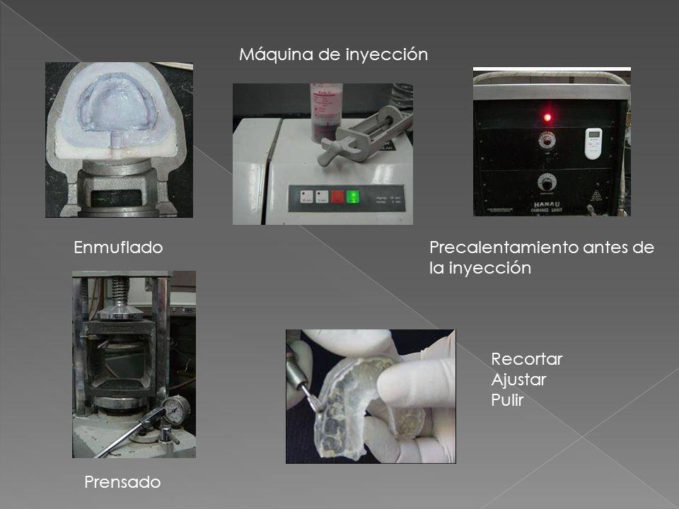 Enmuflado Máquina de inyección Precalentamiento antes de la inyección Prensado Recortar Ajustar Pulir