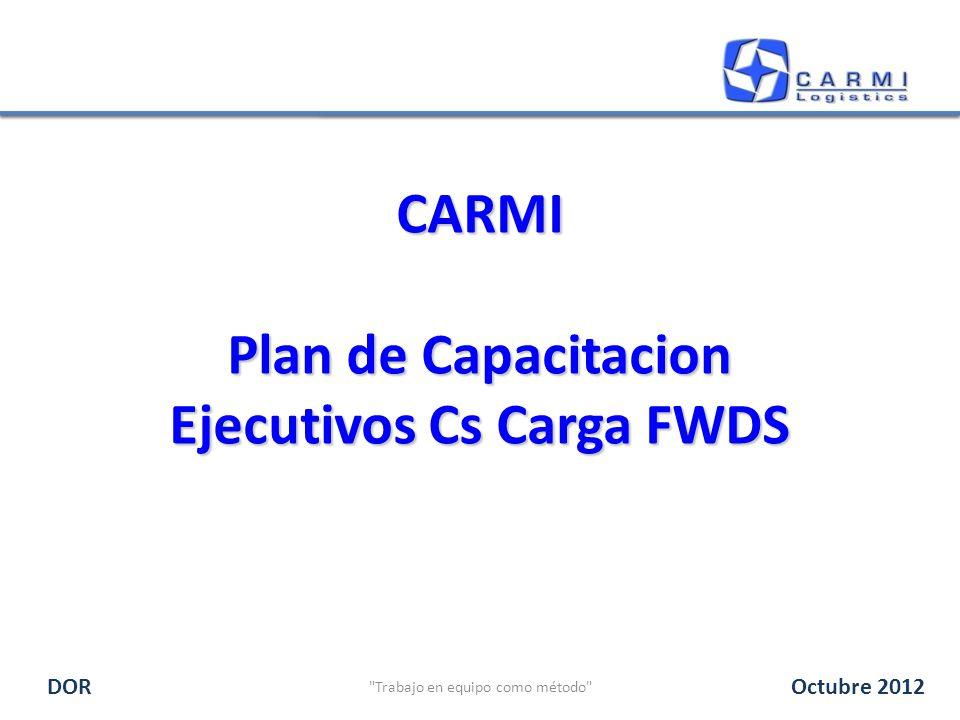 CARMI Plan de Capacitacion Ejecutivos Cs Carga FWDS Trabajo en equipo como método DOROctubre 2012