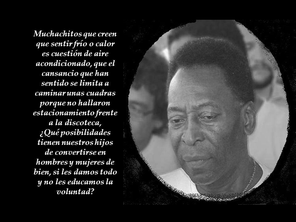 La historia de Pelé no es un hecho aislado. Por desgracia es la vida de cientos de padres de estas épocas atrapados en una agenda saturada de trabajo