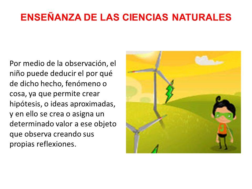 ENSEÑANZA DE LAS CIENCIAS NATURALES Para que un niño comprenda un nuevo concepto lo tiene que relacionar con algunas de sus experiencias o con las ideas que él ya ha construido.