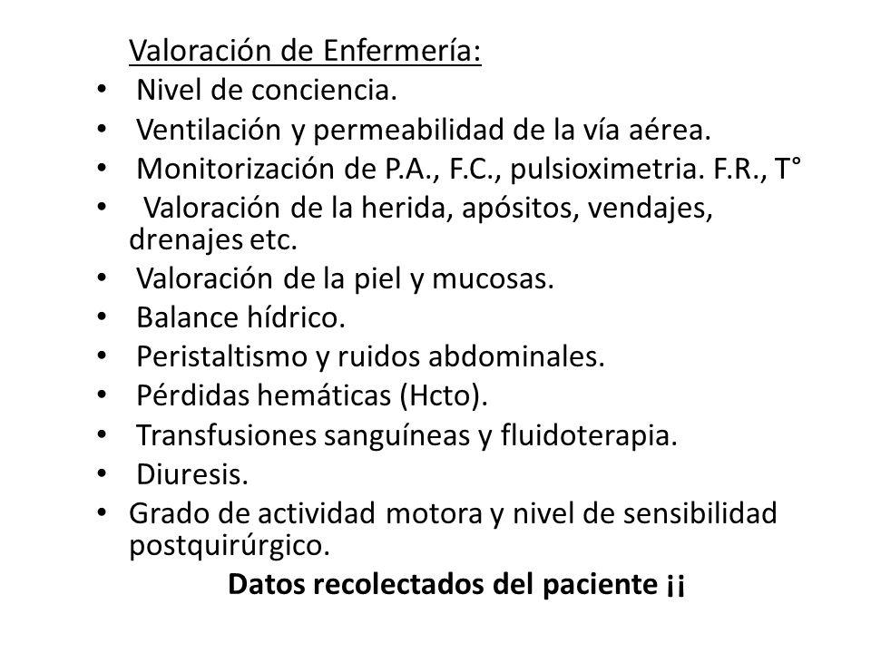 Valoración de Enfermería: Nivel de conciencia.Ventilación y permeabilidad de la vía aérea.