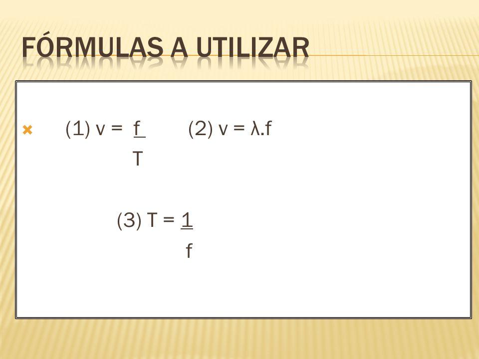 (1) v = f (2) v = λ.f T (3) T = 1 f