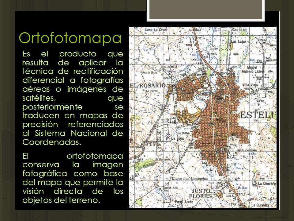 Es el producto que resulta de aplicar la técnica de rectificación diferencial a fotografías aéreas o imágenes de satélites, que posteriormente se trad