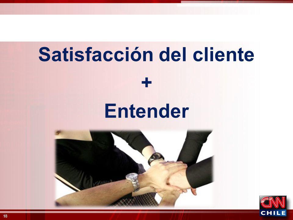Satisfacción del cliente + Entender 18