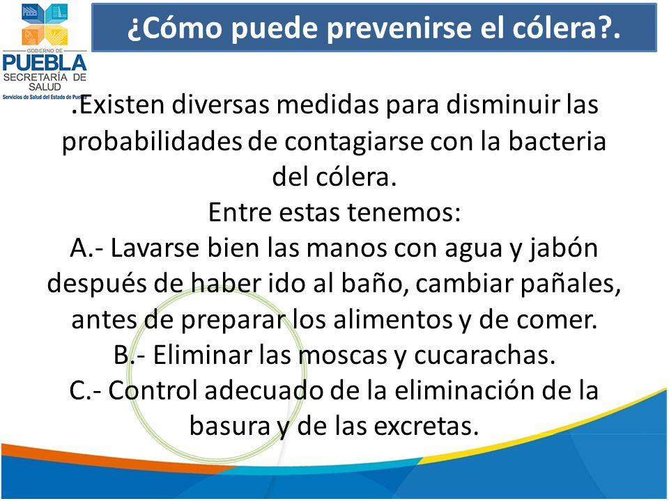 ¿Cómo puede prevenirse el cólera?..