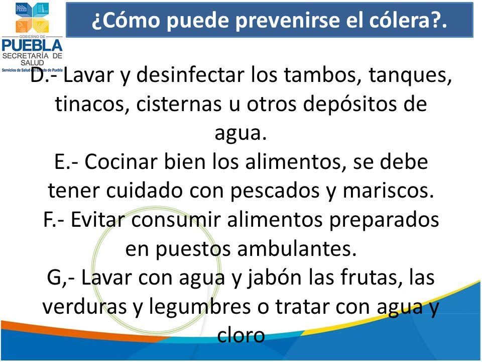 ¿Cómo puede prevenirse el cólera?.