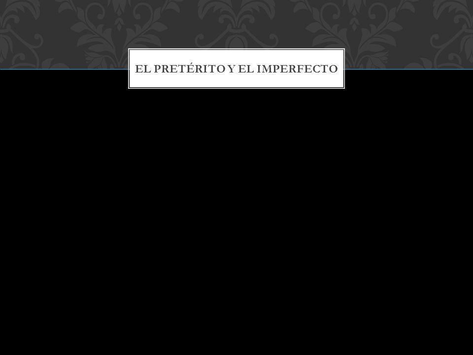 A menudo aparecen juntos: el imperfecto describe lo que estaba pasando cuando otra acción (en pretérito) lo interrumpe: 1.Hablaba con Paloma cuando llegó Paco.