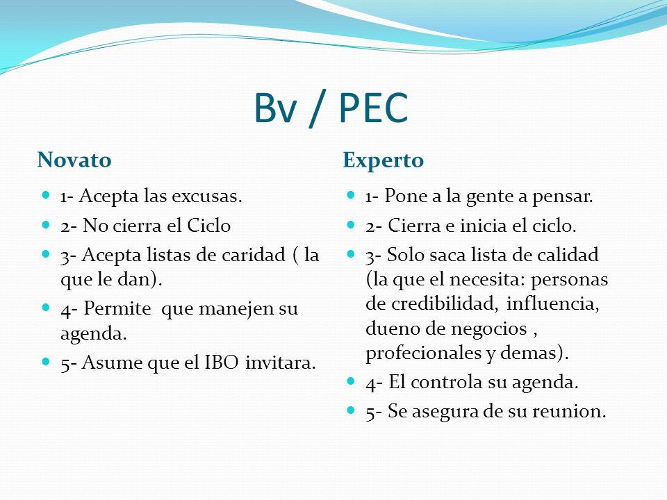 Bv / PEC Novato Experto 1- Acepta las excusas.