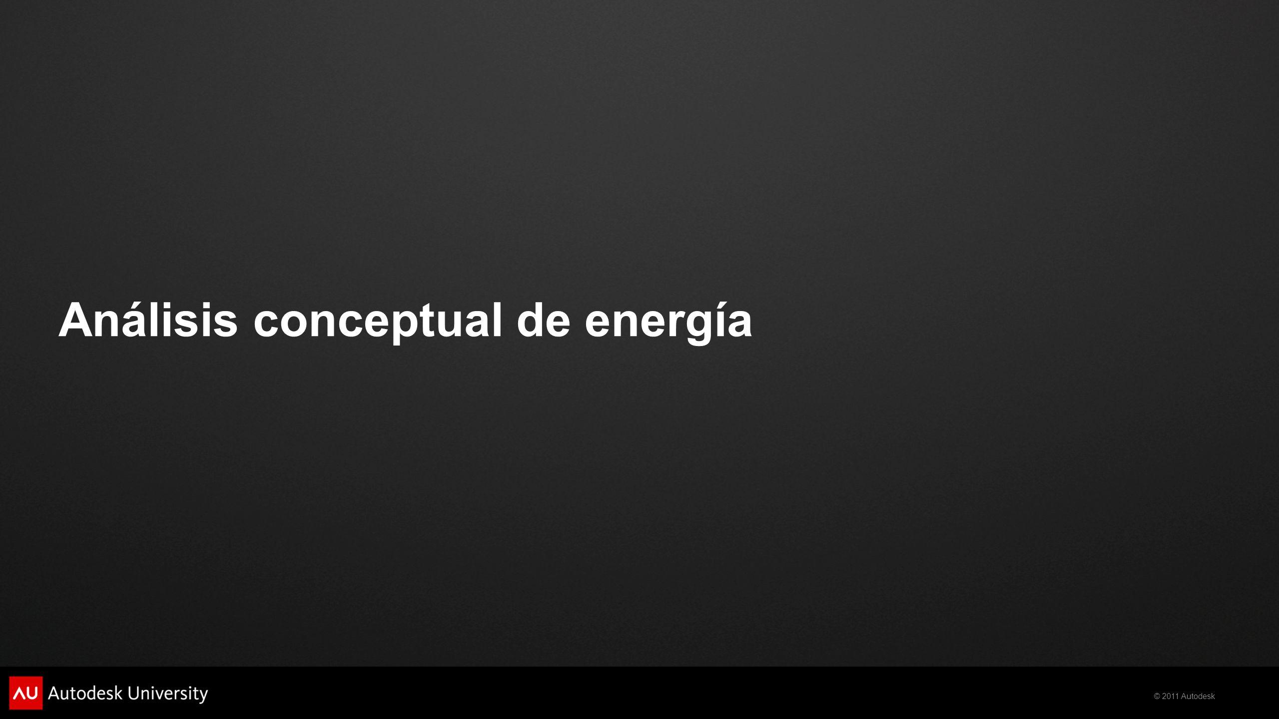 © 2011 Autodesk Análisis conceptual de energía
