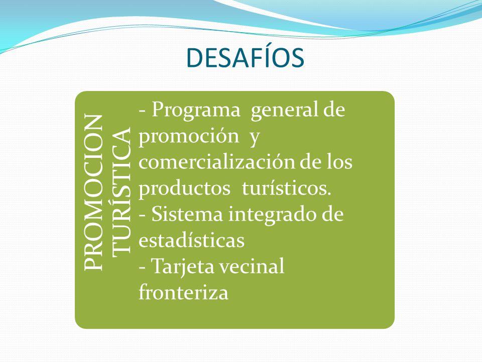 PROMOCION TURÍSTICA - Programa general de promoción y comercialización de los productos turísticos. - Sistema integrado de estadísticas - Tarjeta veci