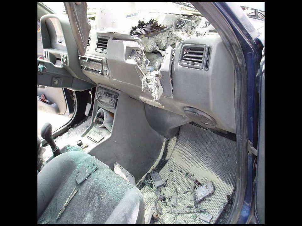 Afortunadamente no hubo víctimas, porque nadie estaba dentro del auto.