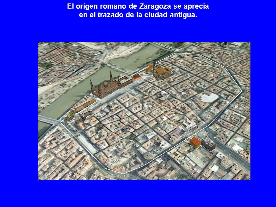 El origen romano de Zaragoza se aprecia en el trazado de la ciudad antigua.