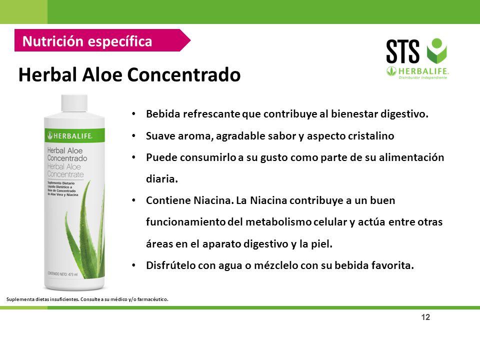 12 Herbal Aloe Concentrado Bebida refrescante que contribuye al bienestar digestivo. Suave aroma, agradable sabor y aspecto cristalino Puede consumirl