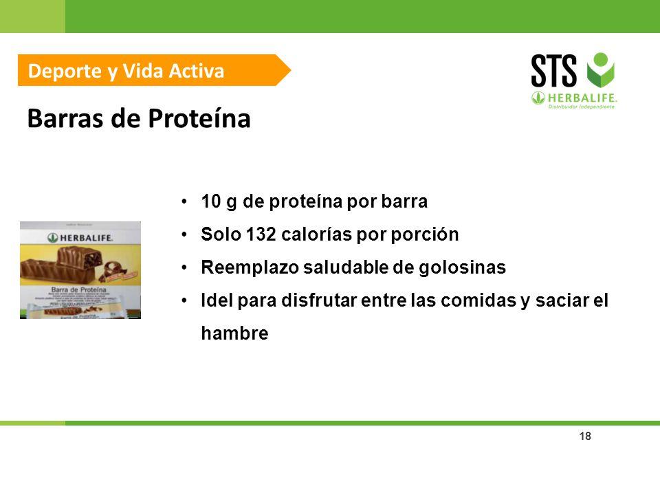 18 Barras de Proteína Deporte y Vida Activa 10 g de proteína por barra Solo 132 calorías por porción Reemplazo saludable de golosinas Idel para disfru