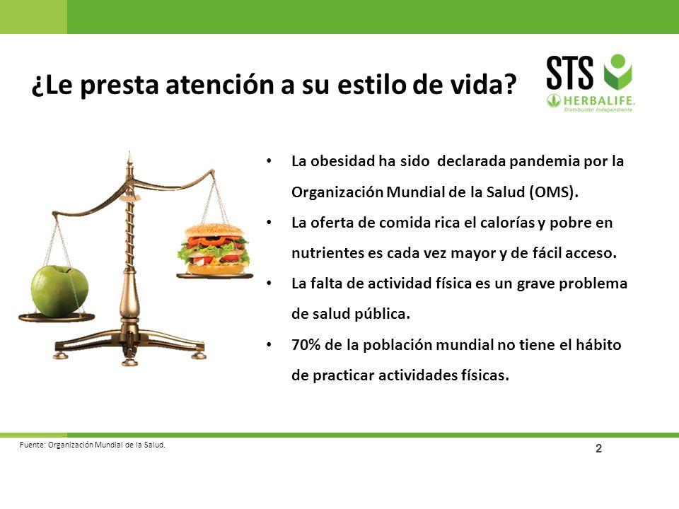 2 ¿Le presta atención a su estilo de vida? La obesidad ha sido declarada pandemia por la Organización Mundial de la Salud (OMS). La oferta de comida r