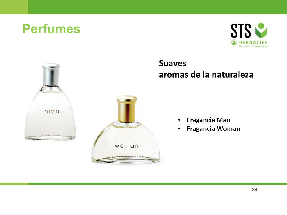 28 Perfumes Suaves aromas de la naturaleza Fragancia Man Fragancia Woman