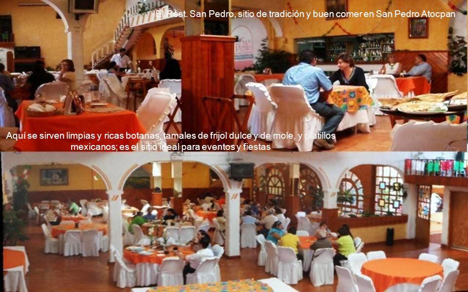 Pintura del Restaurante San Pedro con un interior de una casona ranchera