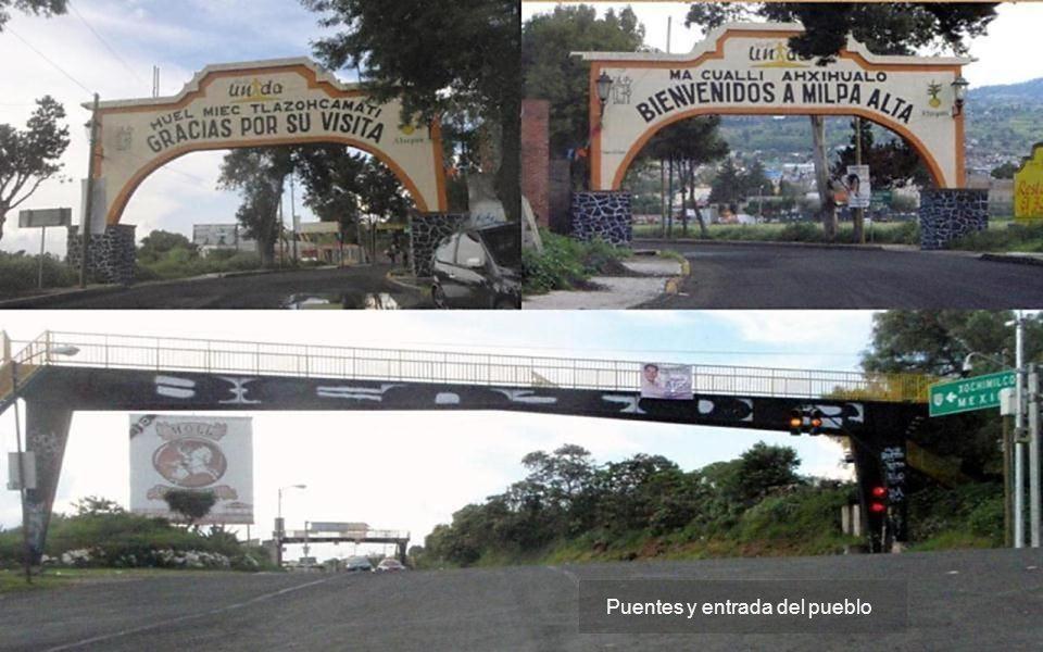 Avenida principal y entrada a Atocpan como a 10 kms arriba de Xochimilco D.F.
