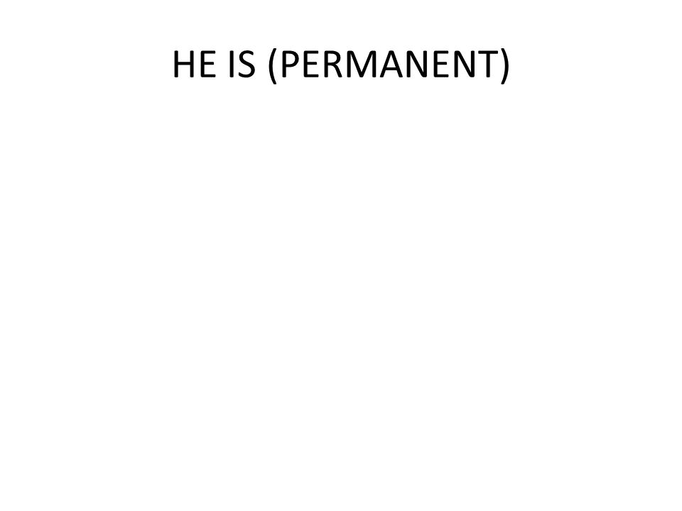 HE IS (PERMANENT)