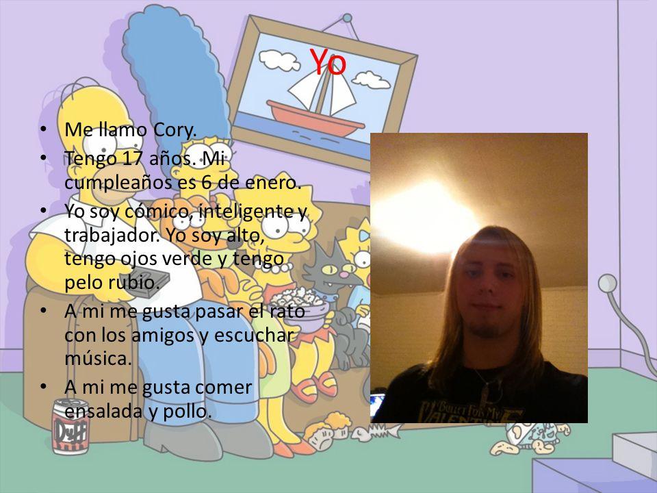 Yo Me llamo Cory.Tengo 17 años. Mi cumpleaños es 6 de enero.