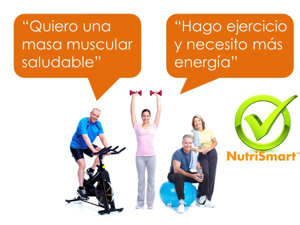 Hago ejercicio y necesito más energía Quiero una masa muscular saludable