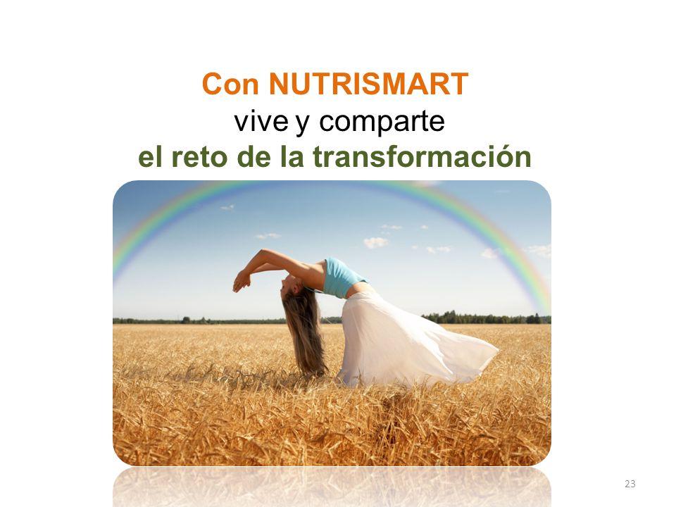 23 Con NUTRISMART vive y comparte el reto de la transformación ÚNETE A LA TRANSFORMACIÓN