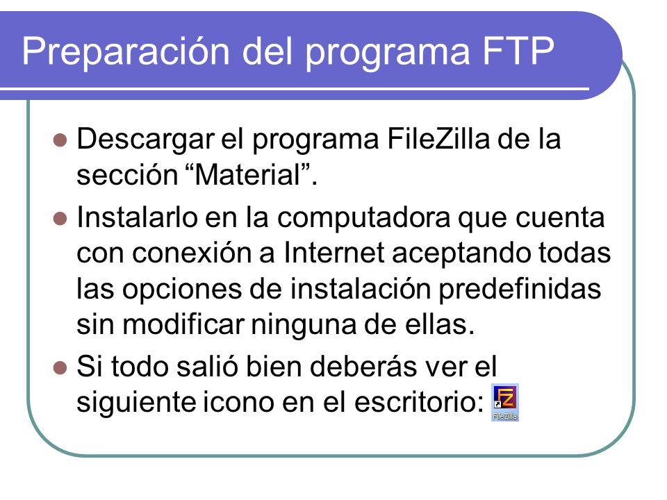 Ahora busquemos la dirección FTP para subir nuestro sitio