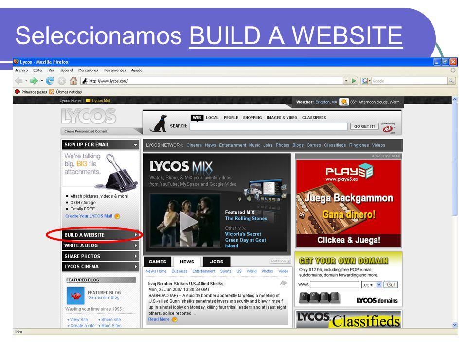 Otra vez Build a website