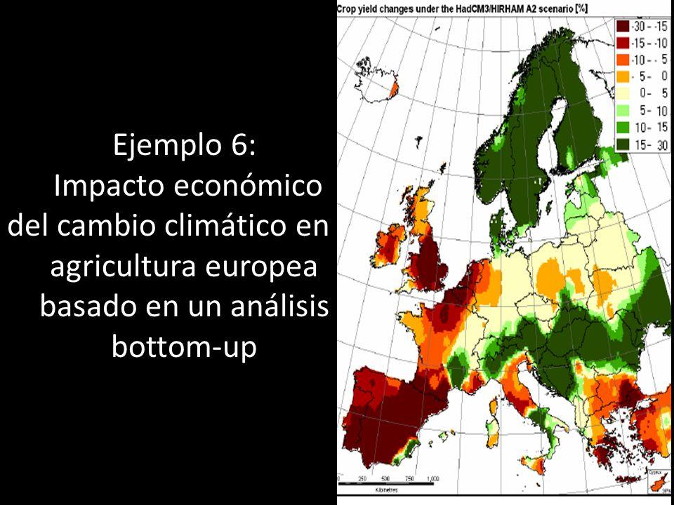 Ejemplo 6: Impacto económico del cambio climático en la agricultura europea basado en un análisis bottom-up 28