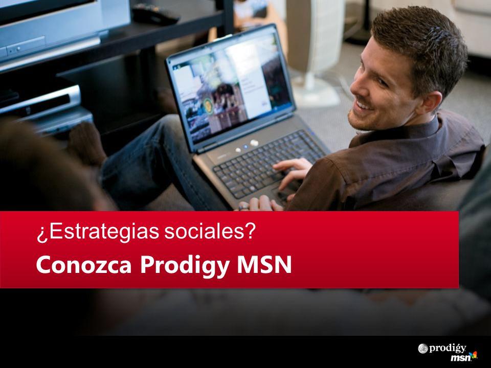 ¿Estrategias sociales Conozca Prodigy MSN