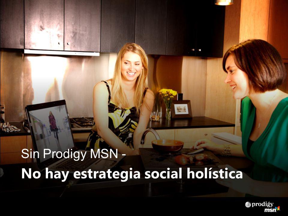 Sin Prodigy MSN - No hay estrategia social holística