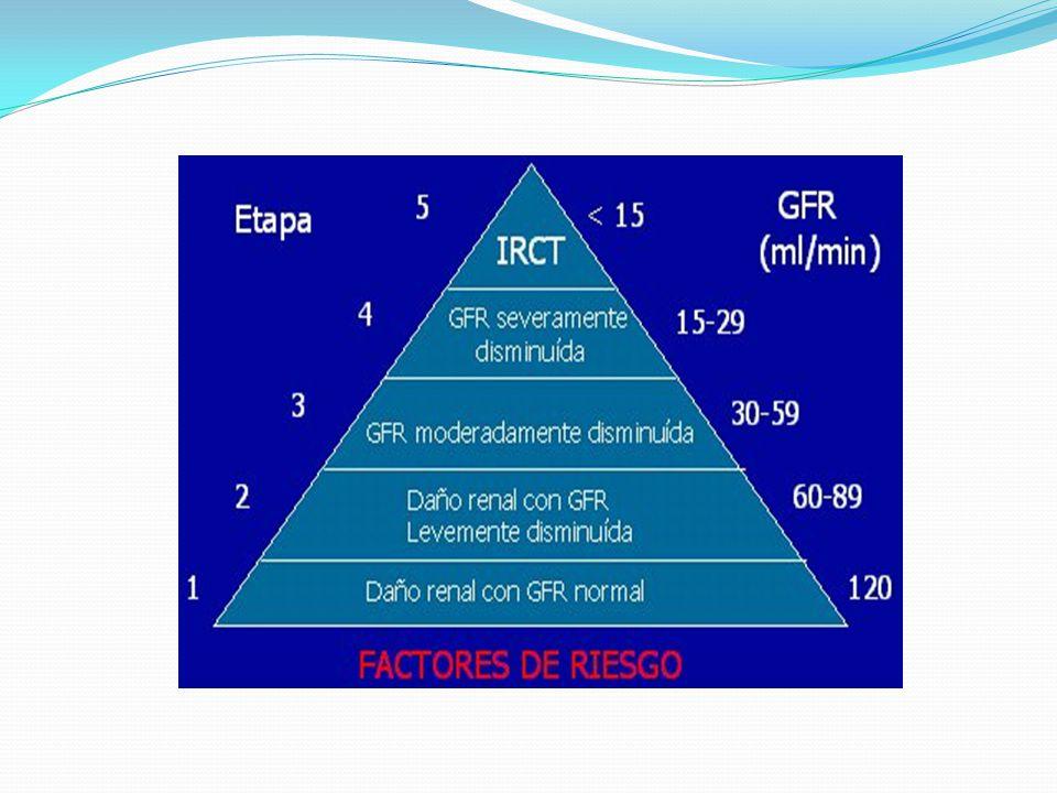 Etiología Las causas más comunes de ERC son la nefropatía diabética, hipertensión arterial, y Glomerulonefritis.