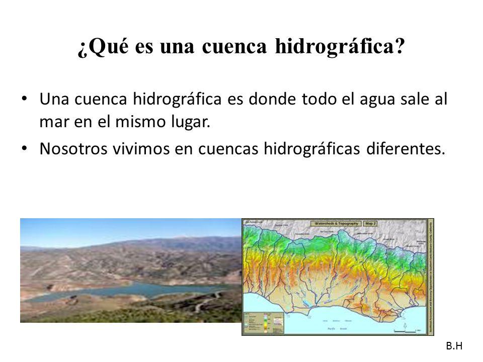¿Qué es una cuenca hidrográfica.