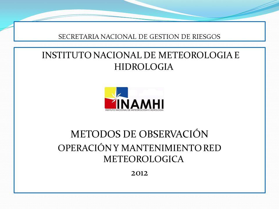 Las observaciones de la presión atmosférica deben efectuarse a la hora fija exacta, y la observación de otros elementos meteorológicos dentro de los diez minutos anteriores a ella.