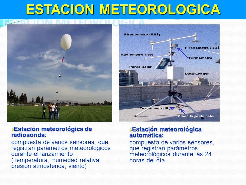 Estación meteorológica de radiosonda: Estación meteorológica de radiosonda: compuesta de varios sensores, que registran parámetros meteorológicos dura