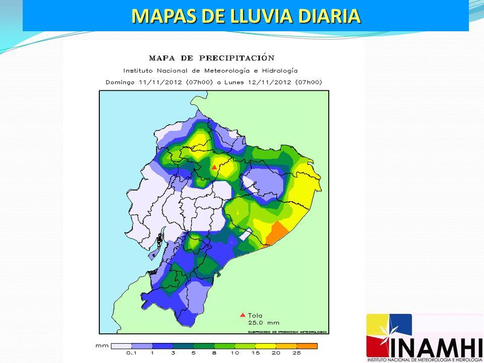MAPAS DE LLUVIA DIARIA
