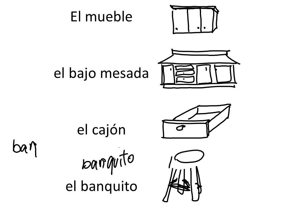 El mueble el bajo mesada el cajón el banquito