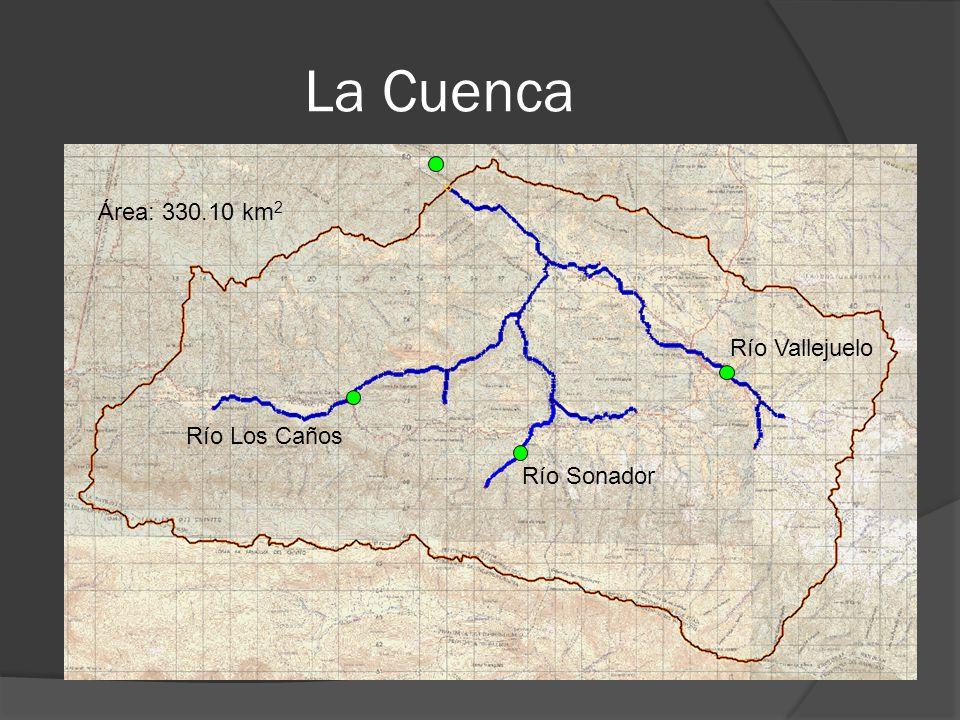 La Cuenca Río Vallejuelo Río Sonador Río Los Caños Área: 330.10 km 2