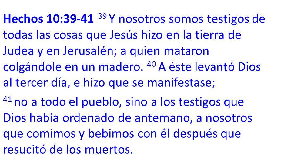 VERS 39-40 Lee (Mt 20:17-19)(Lc 18:31-34)(Mr 10:32- 34)(Hechos 10:39-41) ¿De que señal pues estaba hablando Jesús?
