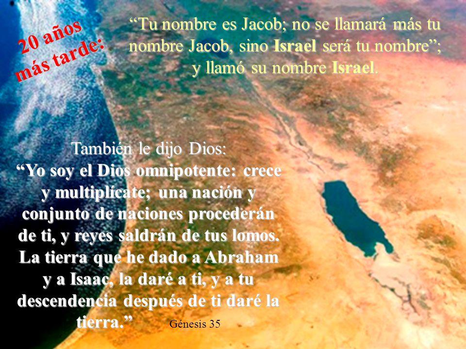 Yo soy el SEÑOR, el Dios de Abraham tu padre, y el Dios de Isaac; la tierra en que estás acostado te la daré a ti y a tu descendencia. Será tu descend