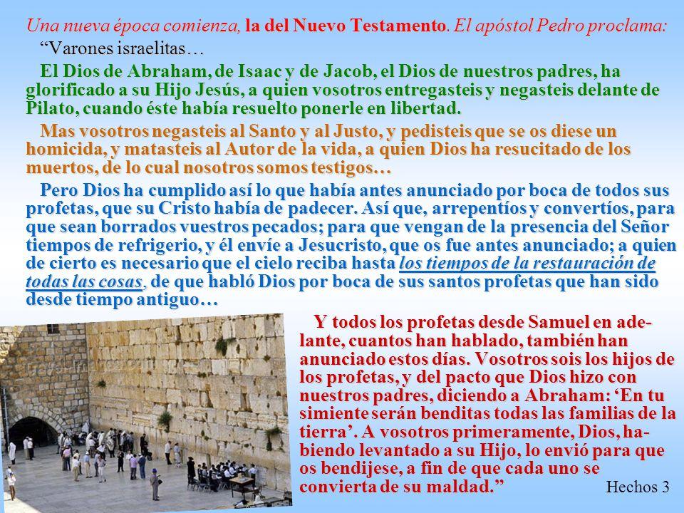 La promesa repetida a David a través del profeta Natán: Yo fijaré lugar a mi pueblo Israel y lo plantaré, para que habite en su lugar y nunca más sea