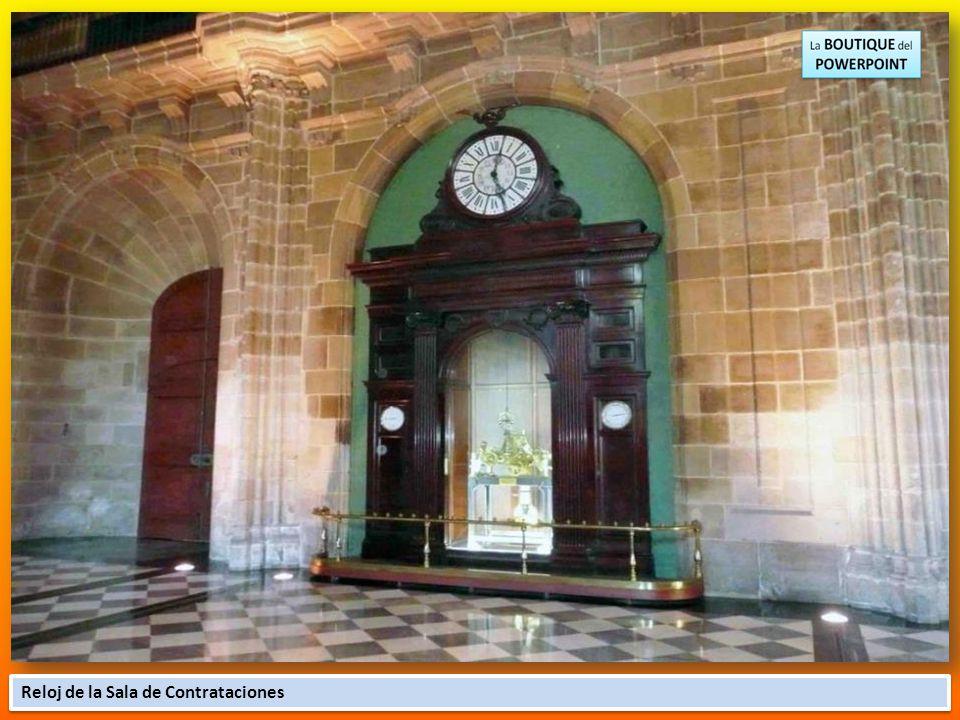 El Saló Consolat del Mar situado encima del Salón de Contrataciones, estuvo escondido hasta el año 1973, construido bajo la dirección de Marc Safont.
